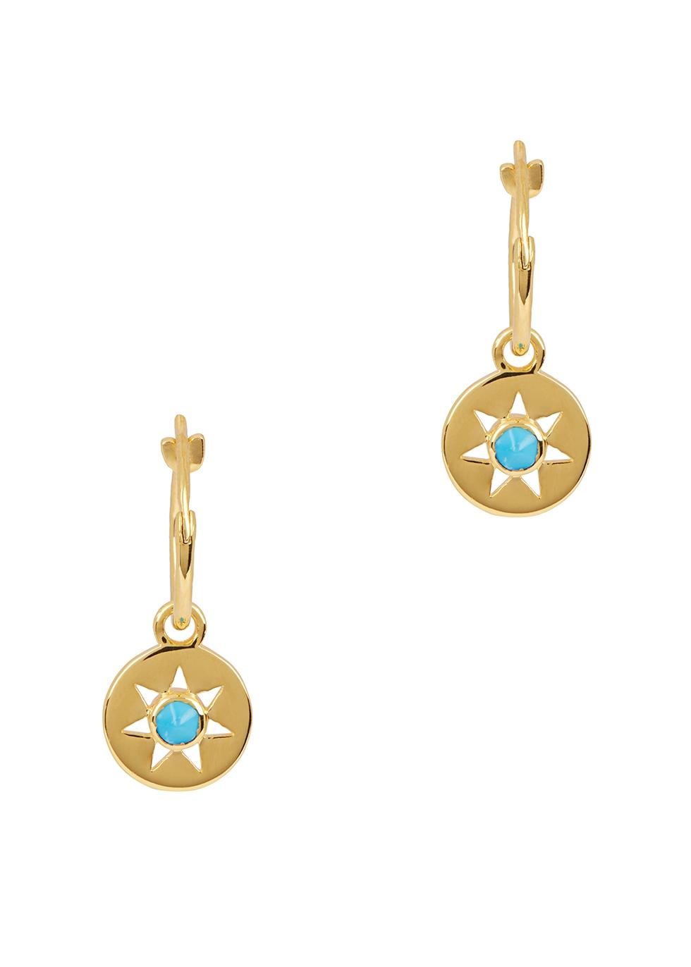 MISSOMA Hoop Turquoise 18Ct Gold Earrings