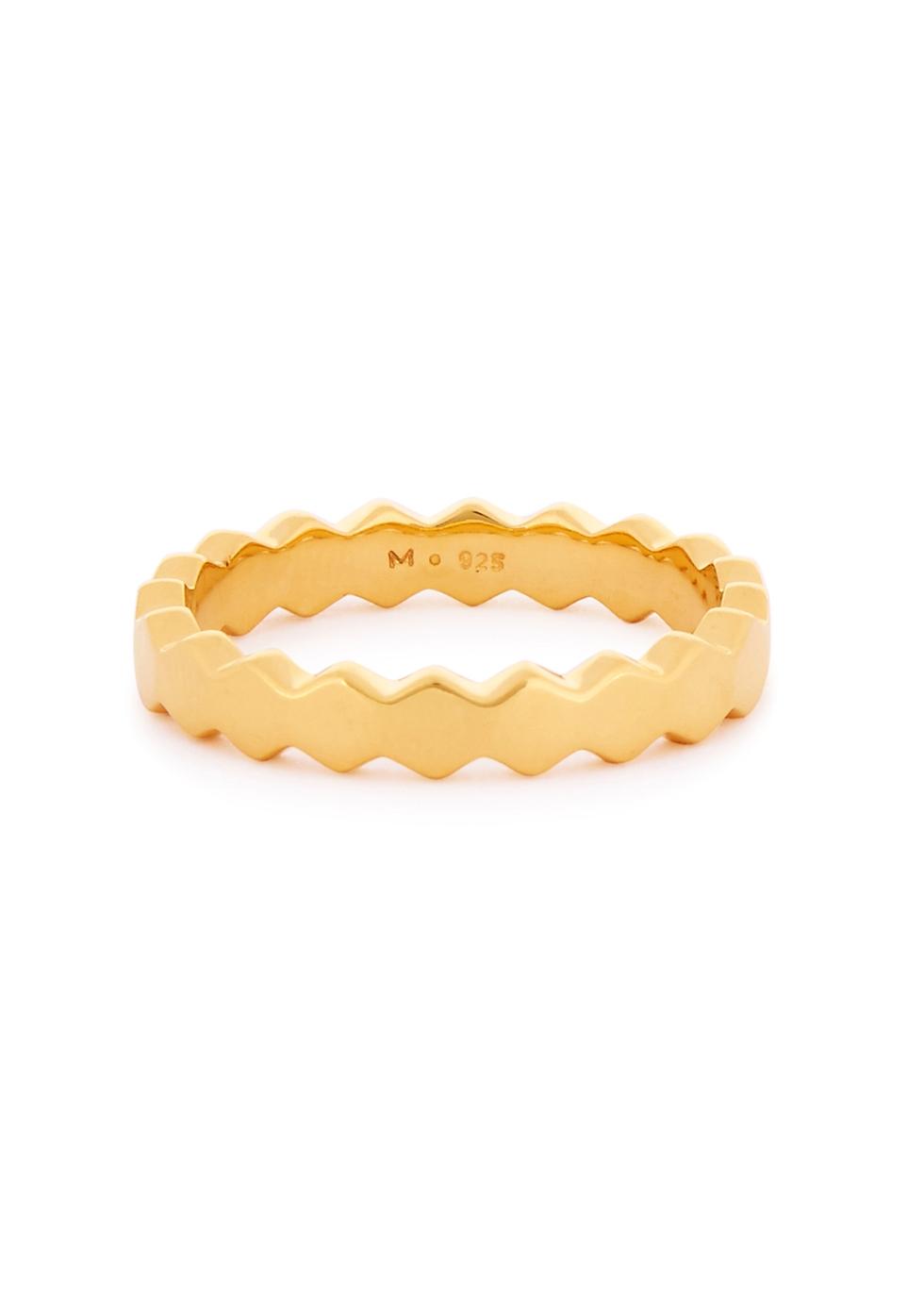 MISSOMA Rhea Convex 18Ct Gold Vermeil Ring