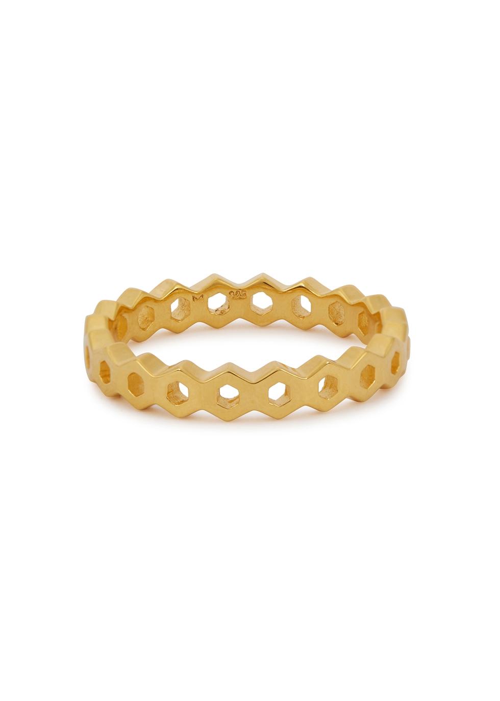 MISSOMA Rhea Acre 18Ct Gold Vermeil Ring