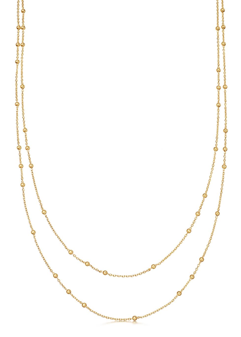 Double Chain 18kt gold vermeil necklace