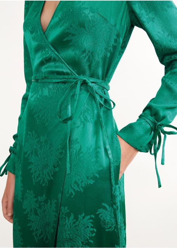 28f3942bd8 Odile green wrap dress Odile green wrap dress