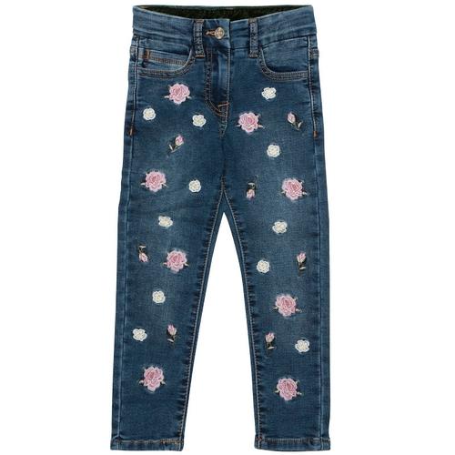 Monnalisa Kids Floral Applique Jeans thumbnail