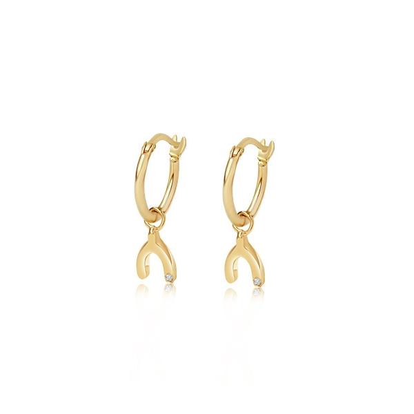 Edge Of Ember Earrings WISHBONE CHARM EARRINGS