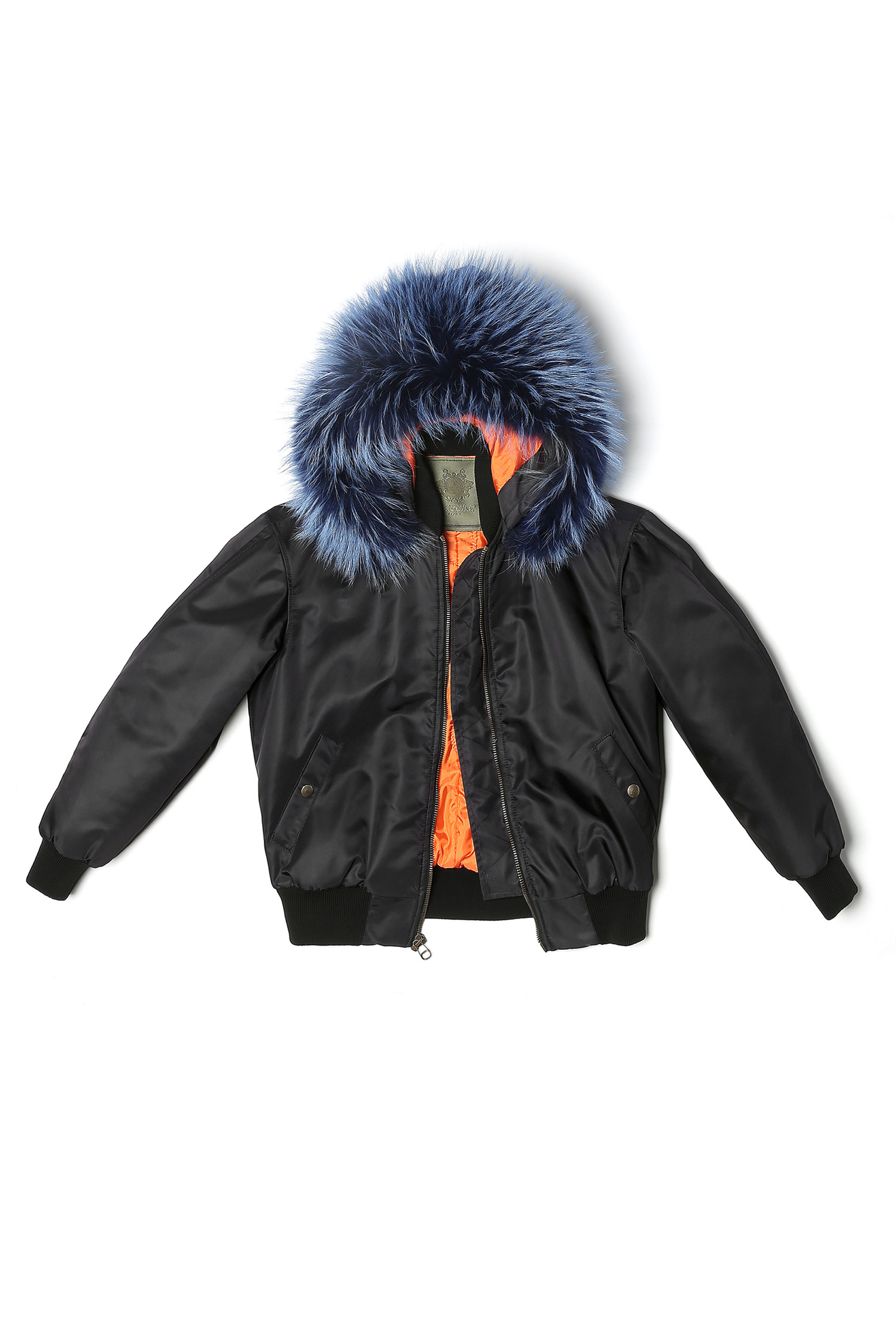 BOMBER NYLON RACCOON FUR