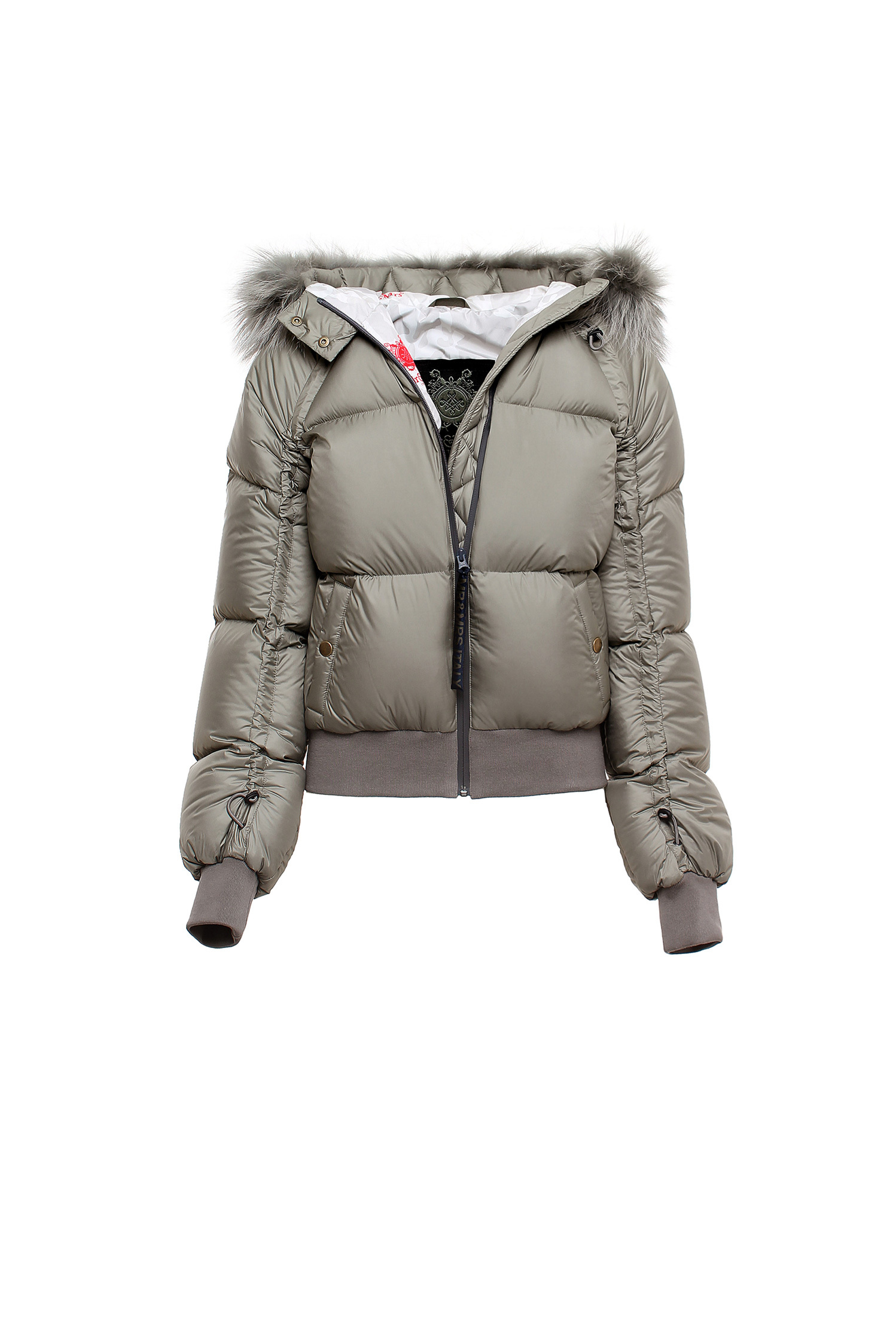 BOMBER COULD NYLON CAMU QUILT RACCOON FUR