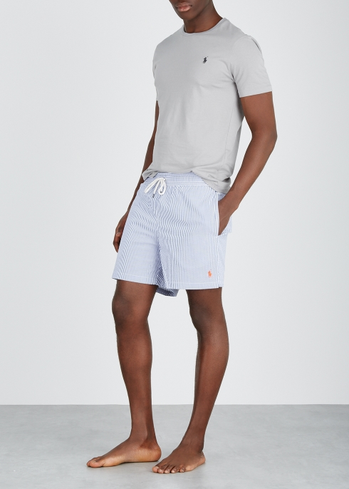 7c7870a8e9 Polo Ralph Lauren Traveller striped seersucker swim shorts - Harvey ...