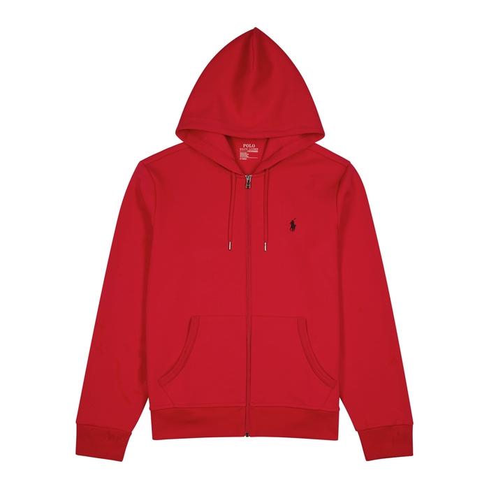 Polo Ralph Lauren Red Hooded Jersey Sweatshirt