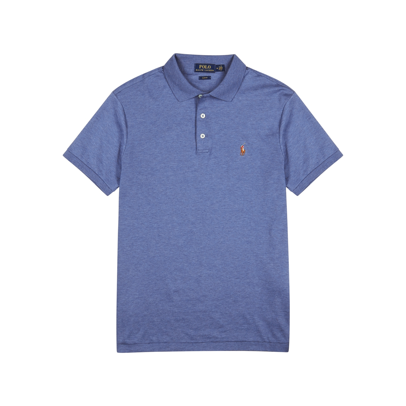 b3e391e6ffed5 Polo Ralph Lauren Blue slim Pima cotton polo shirt - Harvey Nichols