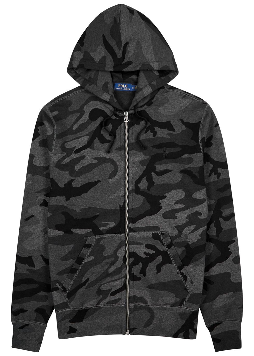 Ralph Harvey Cotton Lauren Camouflage Grey Blend Sweatshirt Polo 9IEDH2