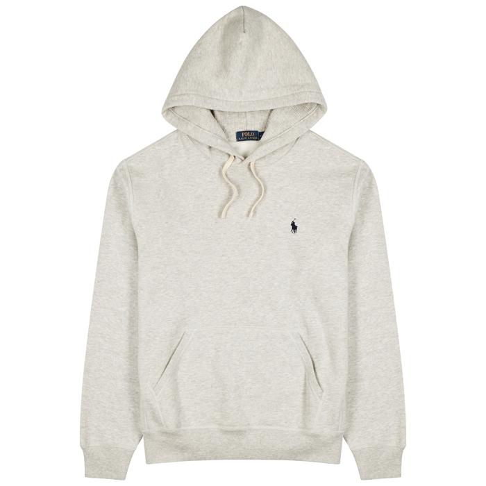 Polo Ralph Lauren Grey Hooded Cotton-blend Sweatshirt