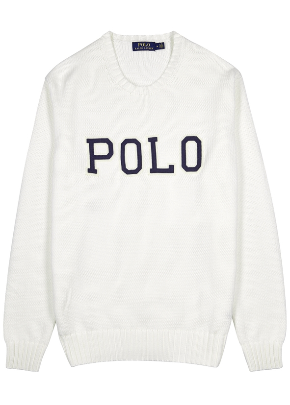 17f533f2bc47 Off-white appliquéd cotton jumper Off-white appliquéd cotton jumper. New  Season. Polo Ralph Lauren