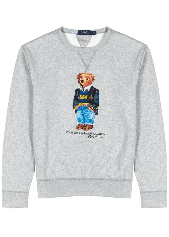 Bear-print cotton-blend sweatshirt Bear-print cotton-blend sweatshirt. New  Season. Polo Ralph Lauren c3d46d155f