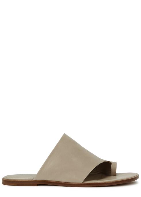 a5348810bfe1 Vince Edris taupe leather sandals - Harvey Nichols