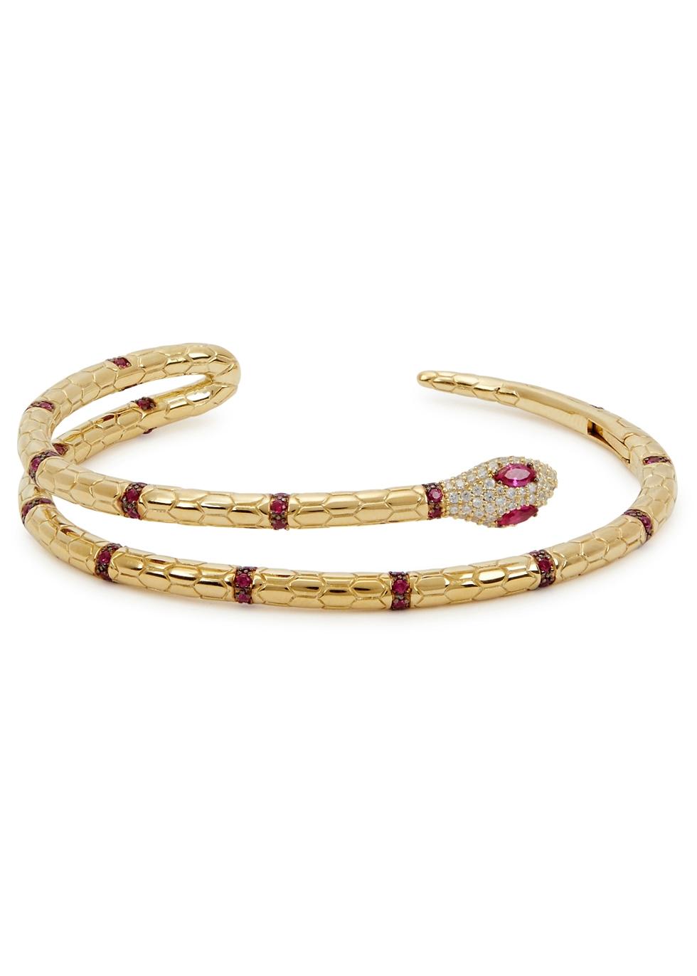 APM MONACO Gold-Tone Embellished Sterling Silver Bracelet