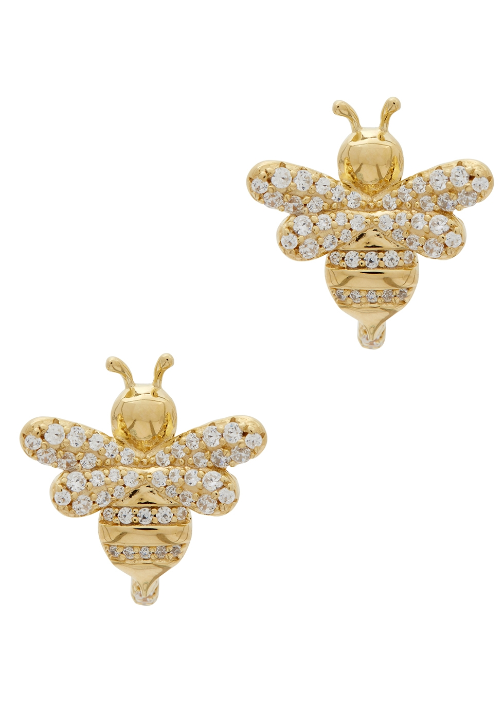 APM MONACO Crystal-Embellished Bee Earrings in Gold