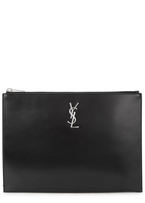 3d278aea2ca4 Saint Laurent Monogram black leather tablet pouch - Harvey Nichols