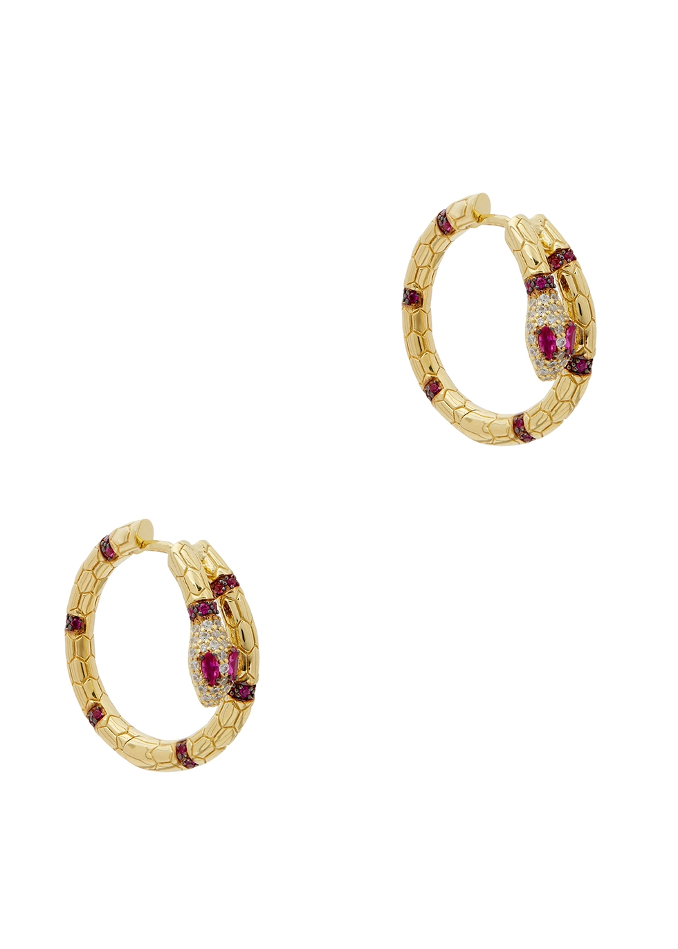 APM MONACO Gold-Tone Snake Earrings