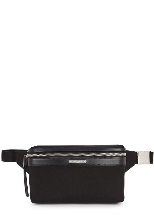 e8447dc2656c Saint Laurent Black canvas belt bag - Harvey Nichols