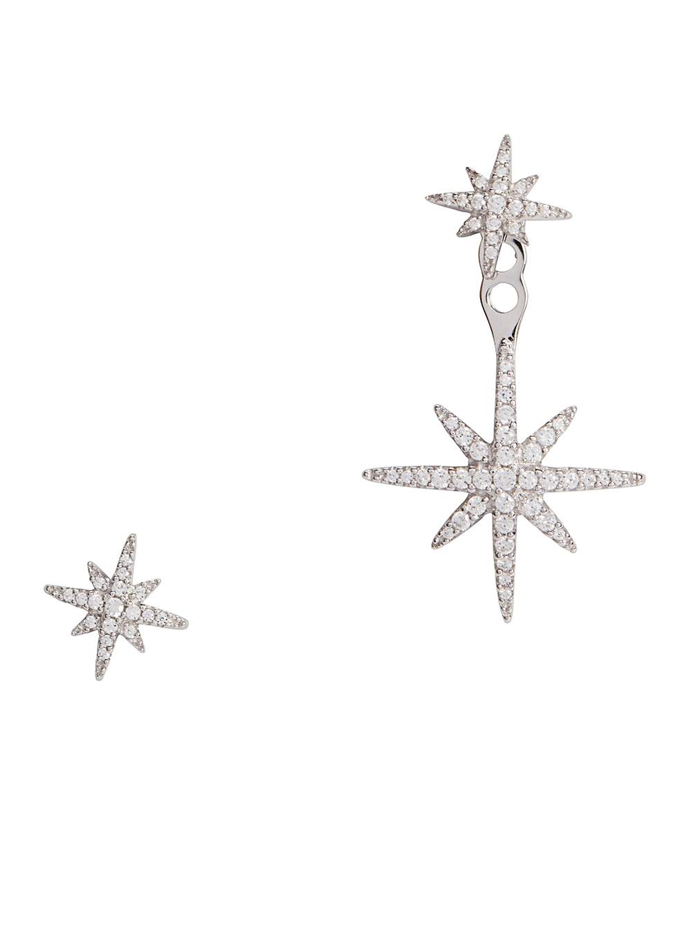 APM MONACO Star Crystal-Embellished Earrings in Silver
