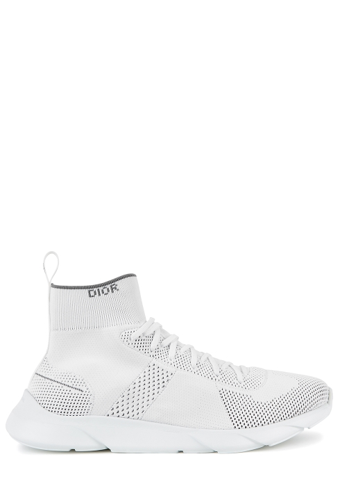 3d374147a3b1 Dior Homme B21 white knitted trainers - Harvey Nichols