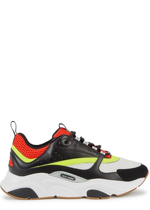 Dior Homme B22 leather and mesh trainers - Harvey Nichols 09f0a24adb3