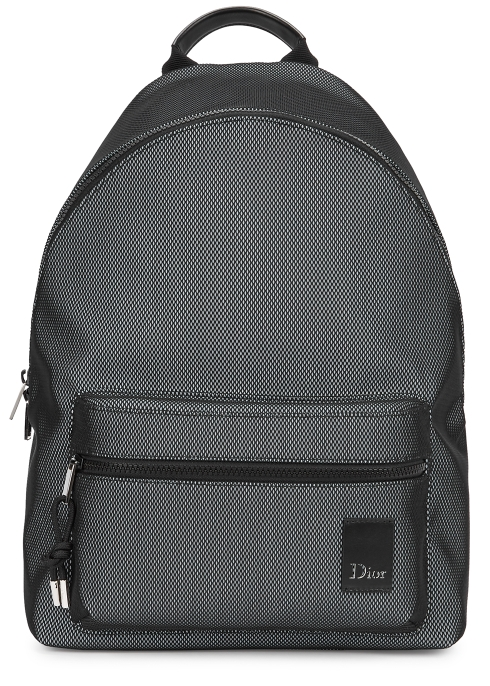 Dior Homme Black reflective mesh backpack - Harvey Nichols 770e88b943b97