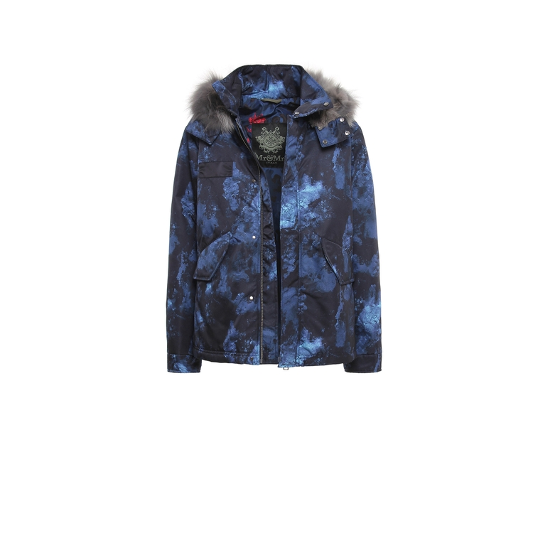 Mr & Mrs Italy Furs PARKA SHAPE CORTO NYLON REAL FEATHER GOOSE