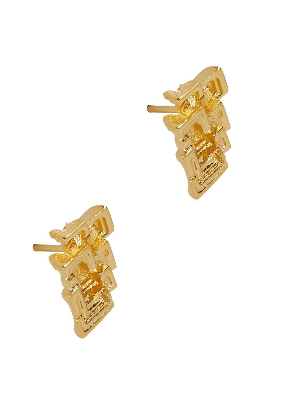 MISSOMA Bismuth 18Kt Gold Vermeil Stud Earrings