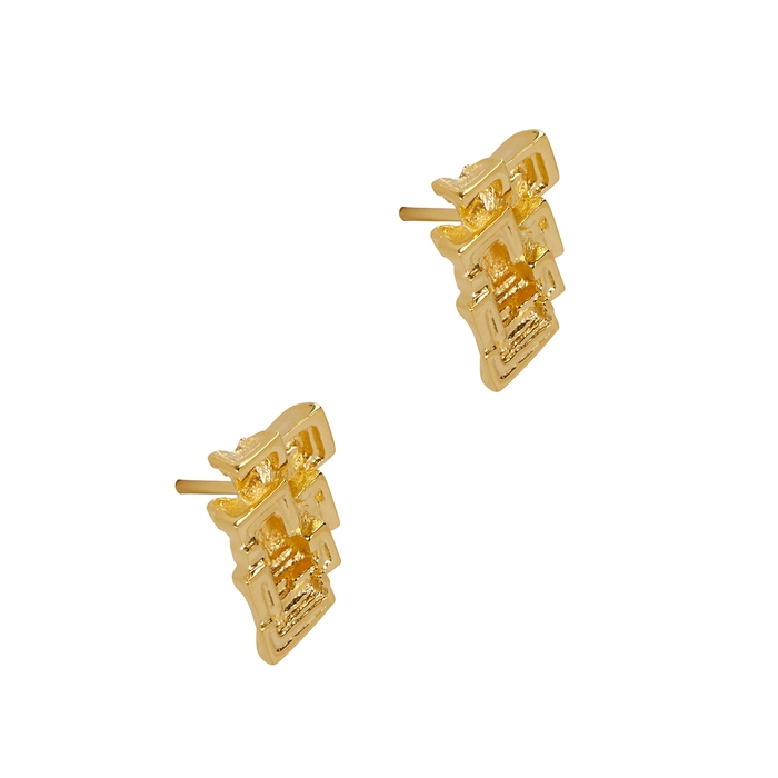 Missoma Bismuth 18Kt Gold Vermeil Stud Earrings