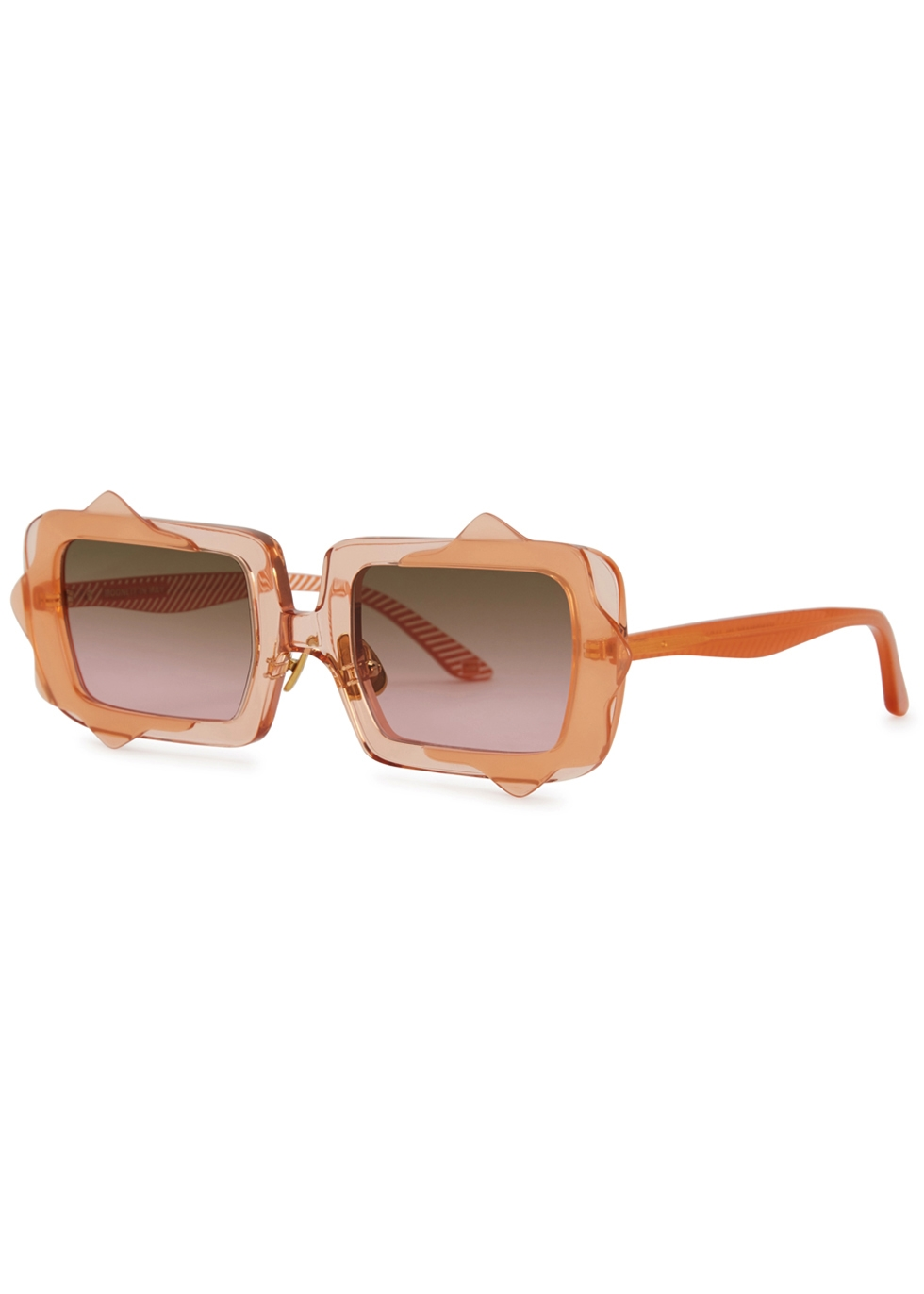 MOY ATELIER Moonlit In May Square-Frame Sunglasses in Pink