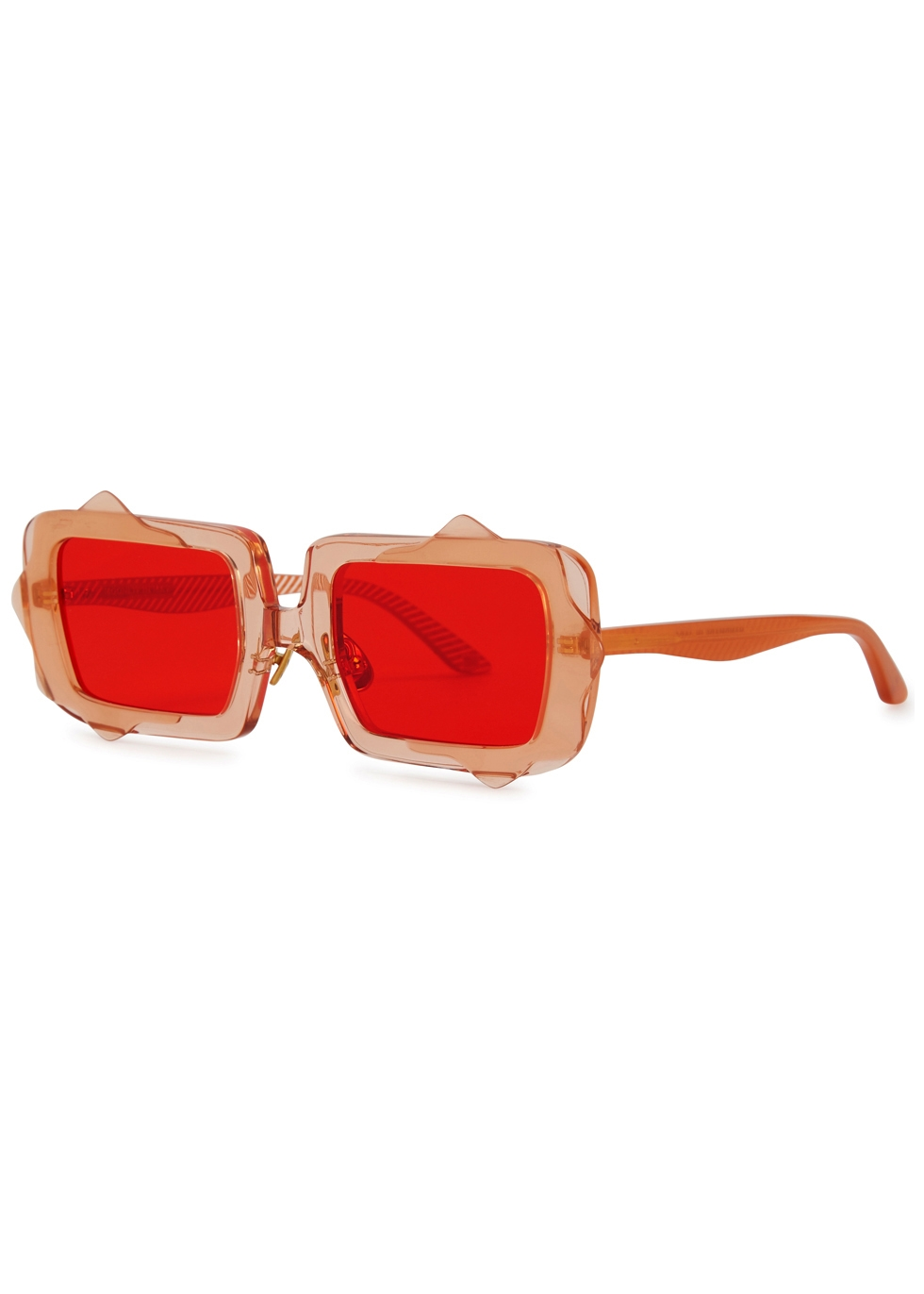 MOY ATELIER Moonlit In May Square-Frame Sunglasses in Red