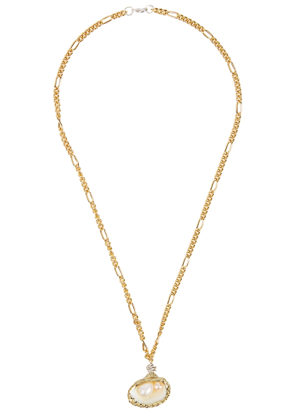 9b1dc1f937 Drop It Like It s Hot gold-plated shell necklace