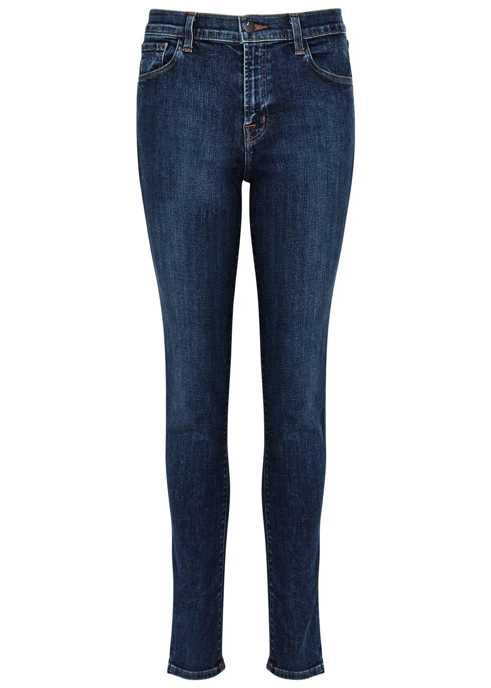Ruby dark blue slim-leg jeans