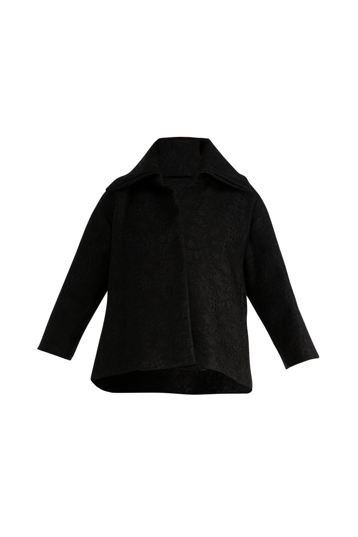 CHIARA BONI Mony Black Lace Cape