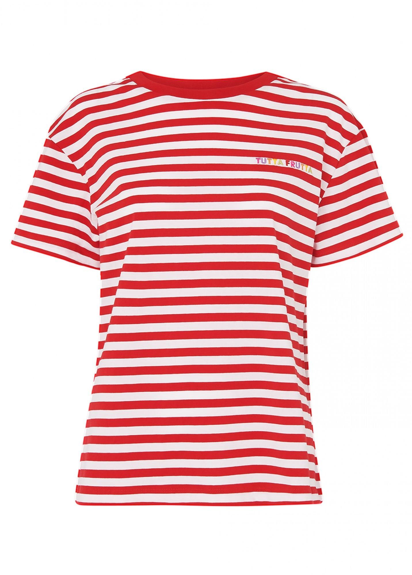 KITRI | Kitri Tutta Frutta Red Stripe T-Shirt | Goxip
