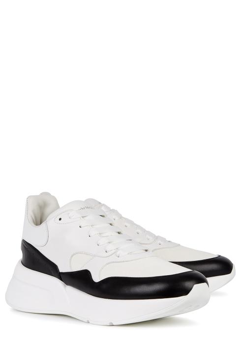 c281f121bb07 Alexander McQueen Oversized Runner leather trainers - Harvey Nichols