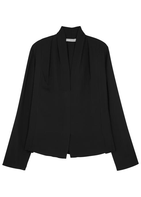 d24582c57499e Vince Black silk chiffon blouse - Harvey Nichols