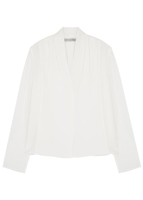 d70a35f70843f Vince Cream silk chiffon blouse - Harvey Nichols