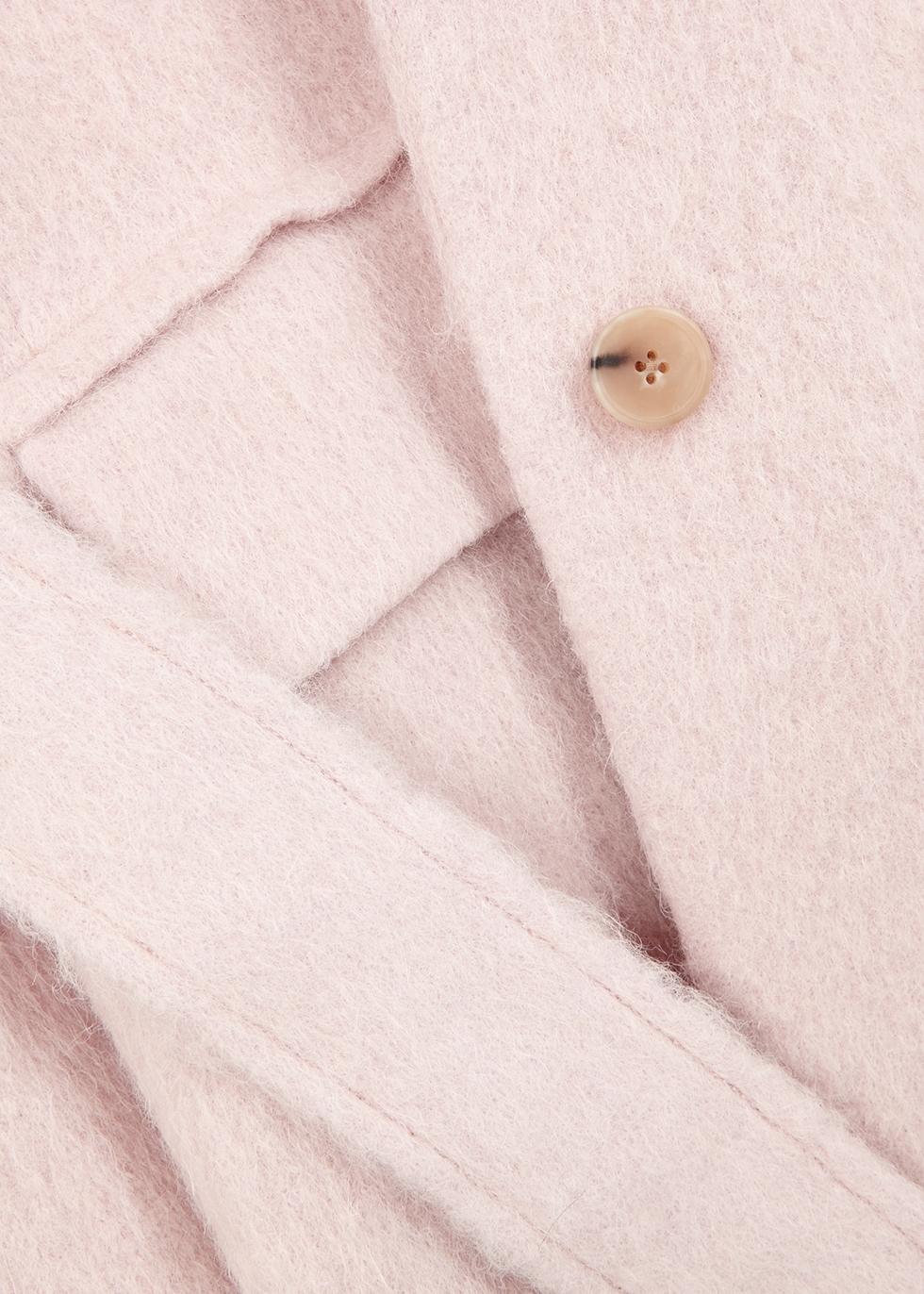 Blush textured wool-blend coat - Vince