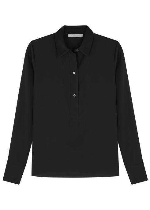 e7a2247429914b Vince Black stretch-silk blouse - Harvey Nichols