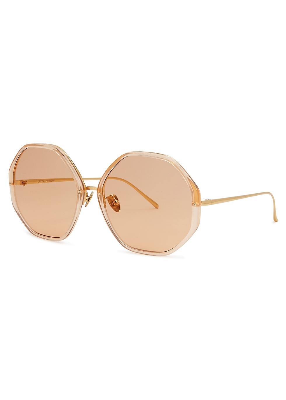 LINDA FARROW LUXE 901 Oversized Sunglasses in Pink