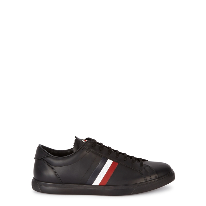 Moncler Black Leather Trainers