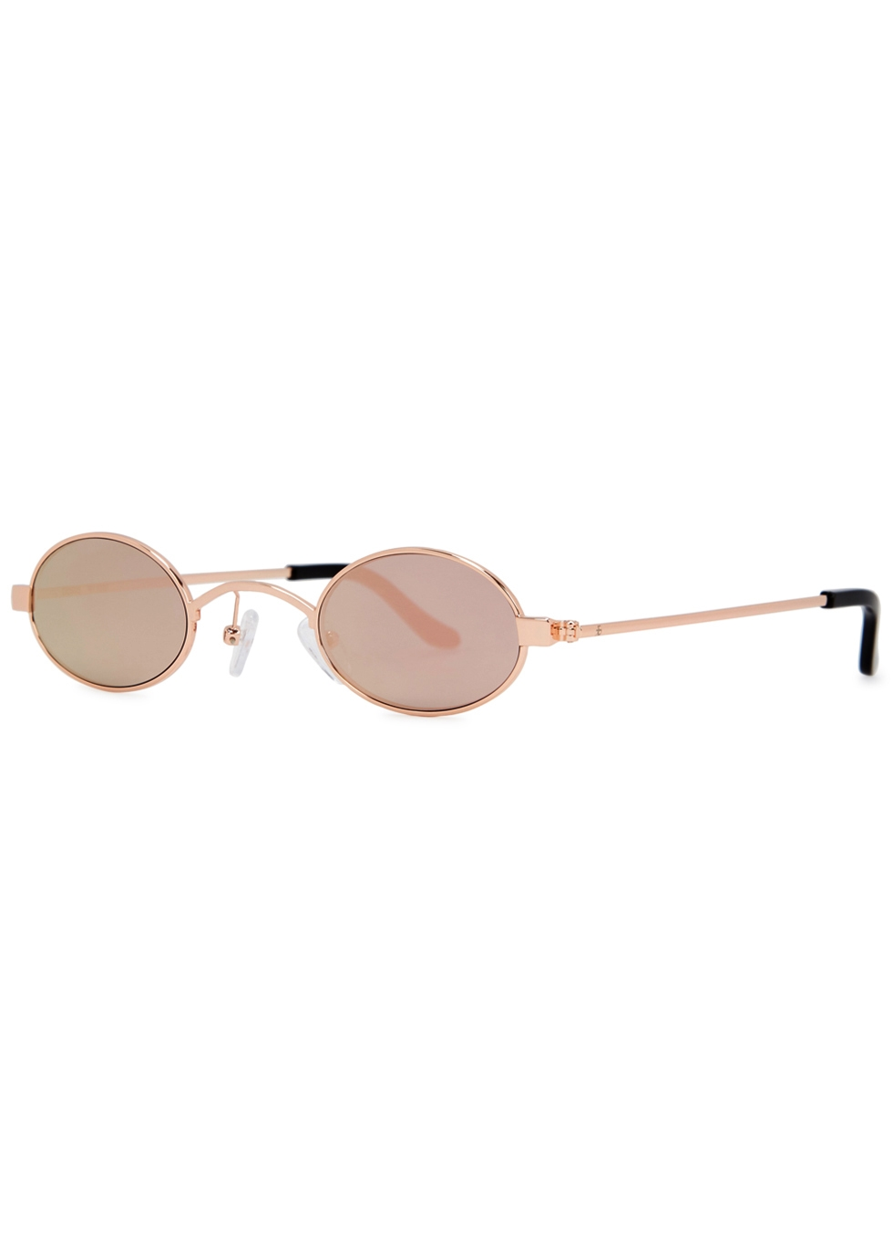 ROBERI AND FRAUD Doris Round-Frame Sunglasses in Gold