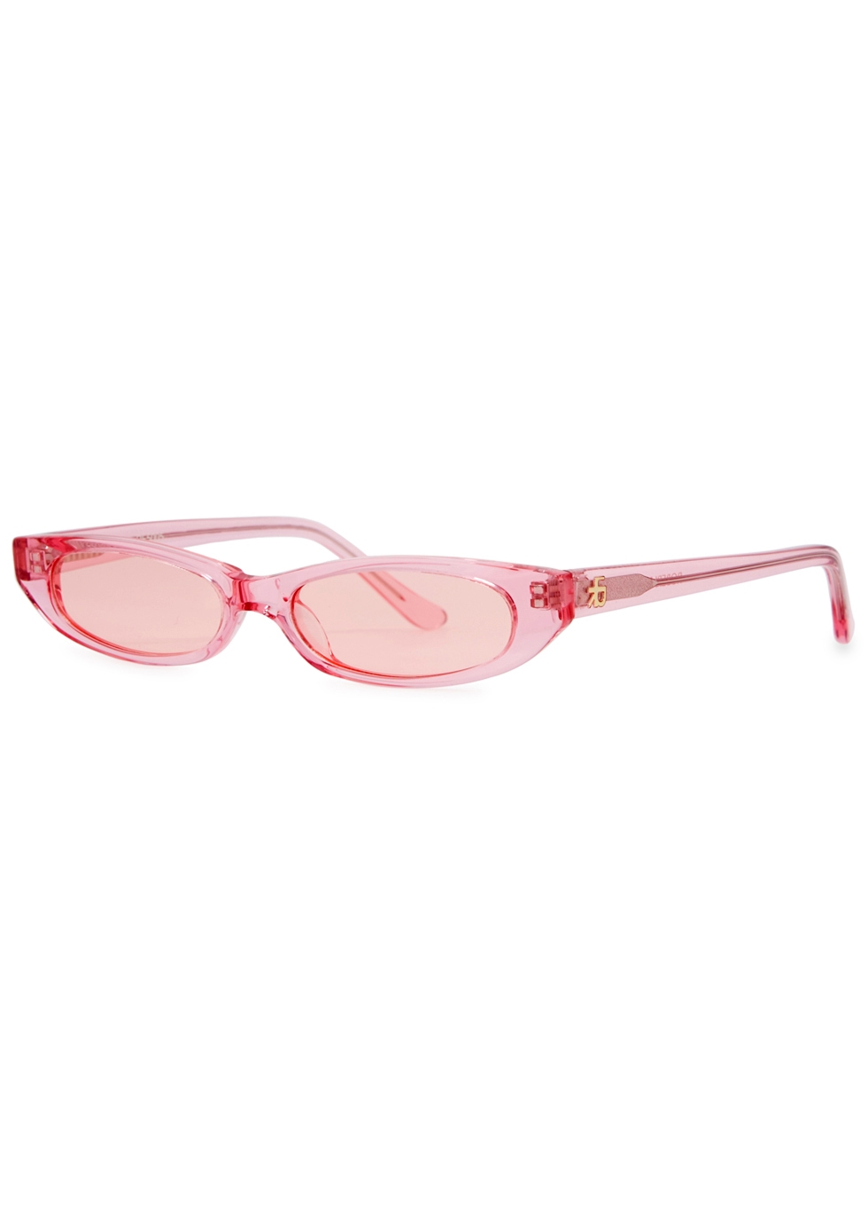 ROBERI AND FRAUD Frances Oval-Frame Sunglasses in Pink