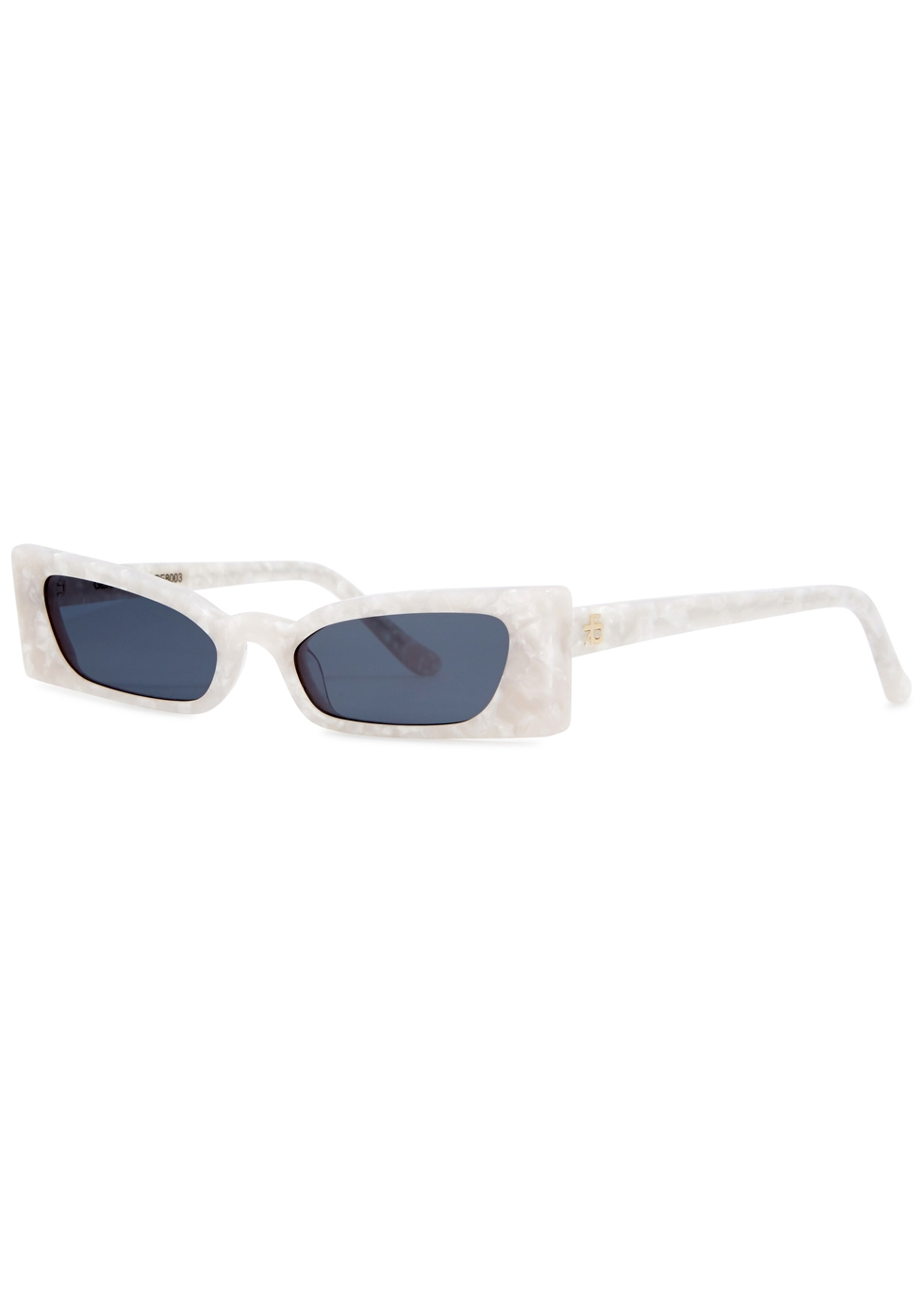 ROBERI AND FRAUD Geraldine Rectangle-Frame Sunglasses in White