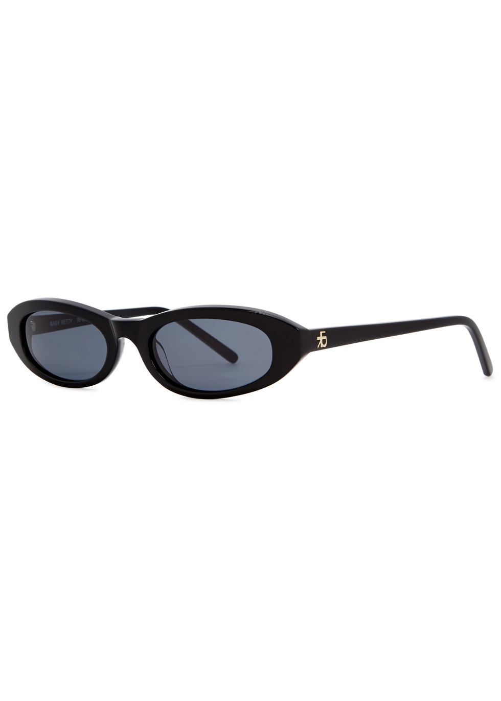 ROBERI AND FRAUD Baby Betty Oval-Frame Sunglasses in Black