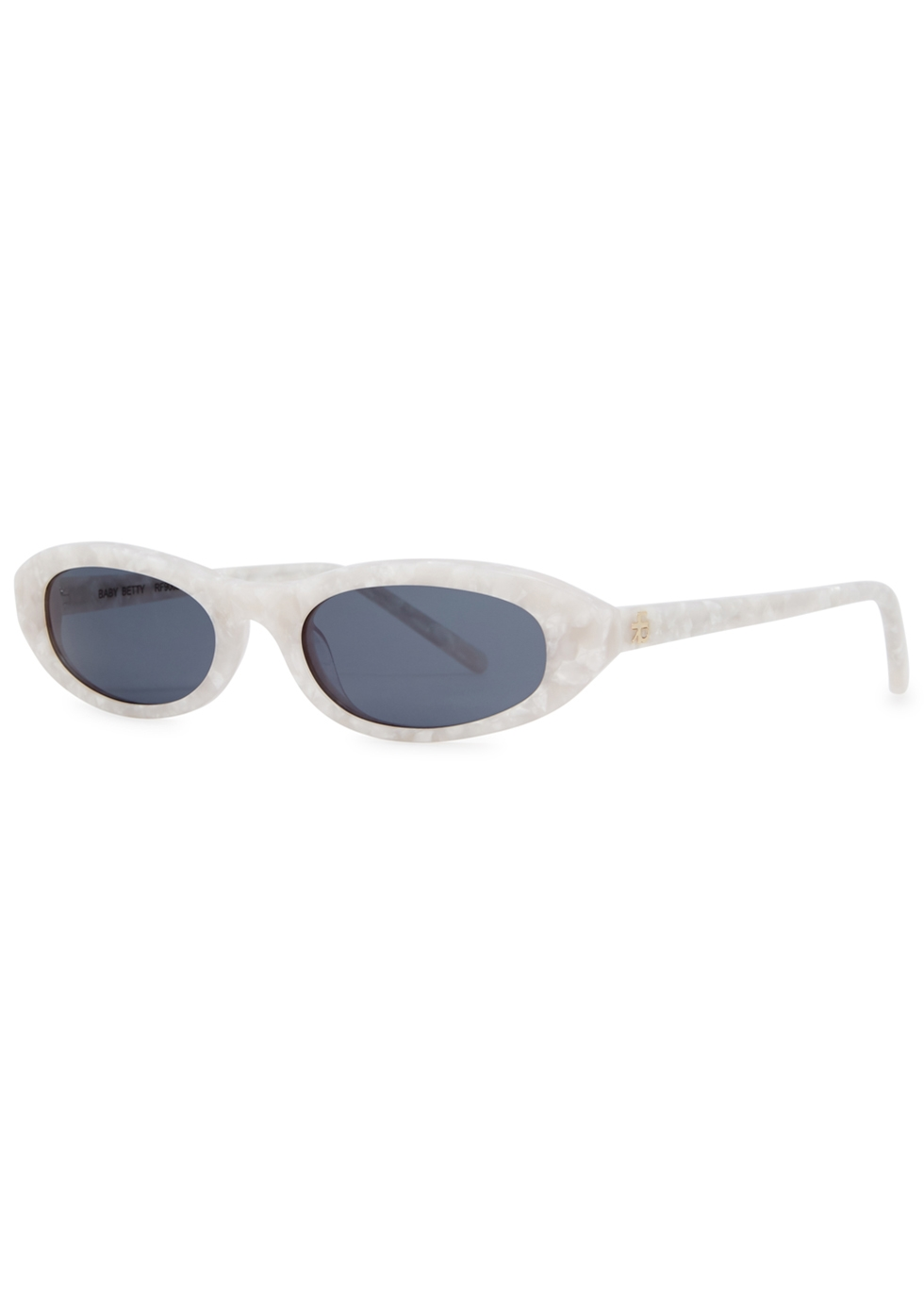 ROBERI AND FRAUD Baby Betty Oval-Frame Sunglasses in White