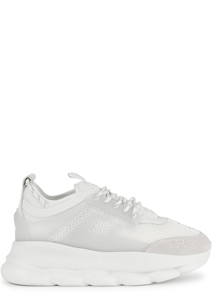 8c62b2434dd33 Chain Reaction white mesh trainers ...