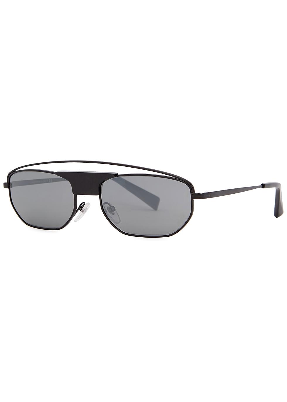 ALAIN MIKLI Plaisir Rectangle-Frame Sunglasses in Black