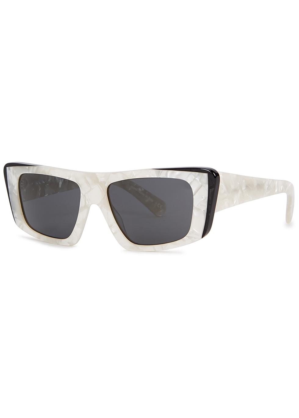 ALAIN MIKLI X Jeremy Scott Rectangle-Frame Sunglasses in Black